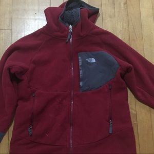 NORTH FACE red jacket with hoodie